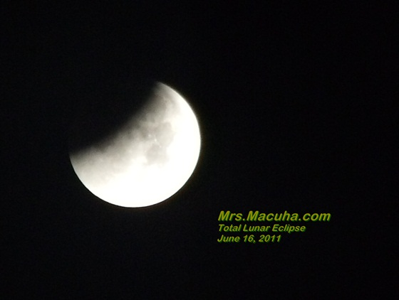 Total Lunar Eclipse June 16, 2011